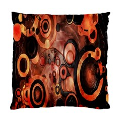 Orange Black Abstract Artwork Standard Cushion Case (two Sides)