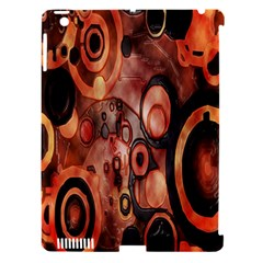 Orange Black Abstract Artwork Apple Ipad 3/4 Hardshell Case (compatible With Smart Cover)