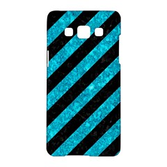 Stripes3 Black Marble & Turquoise Marble Samsung Galaxy A5 Hardshell Case  by trendistuff