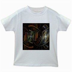 Mosaics Stained Glass Kids White T Shirts