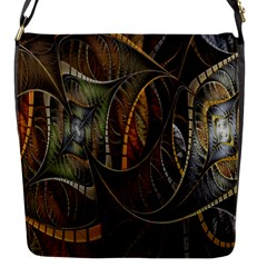 Mosaics Stained Glass Flap Messenger Bag (s) by Jojostore
