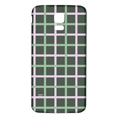 Pink And Green Tiles On Dark Green Samsung Galaxy S5 Back Case (white) by Jojostore