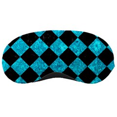 Square2 Black Marble & Turquoise Marble Sleeping Mask by trendistuff