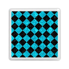 Square2 Black Marble & Turquoise Marble Memory Card Reader (square) by trendistuff
