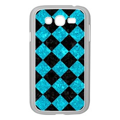 Square2 Black Marble & Turquoise Marble Samsung Galaxy Grand Duos I9082 Case (white) by trendistuff