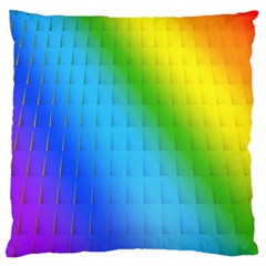 Rainbow Color Orange Yellow Green Purple Standard Flano Cushion Case (one Side) by Jojostore