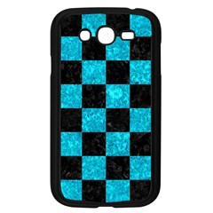 Square1 Black Marble & Turquoise Marble Samsung Galaxy Grand Duos I9082 Case (black) by trendistuff