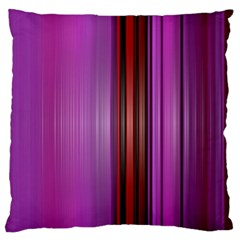 Purple Line Rainbow Large Flano Cushion Case (one Side)