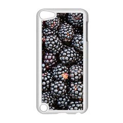 Blackberries Background Black Dark Apple Ipod Touch 5 Case (white) by Amaryn4rt