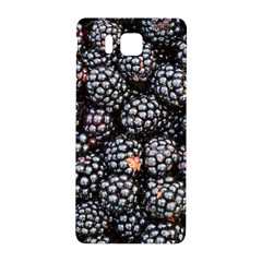 Blackberries Background Black Dark Samsung Galaxy Alpha Hardshell Back Case by Amaryn4rt