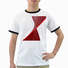 Red Black White Ringer T-shirts by Jojostore