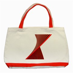 Red Black White Classic Tote Bag (red)
