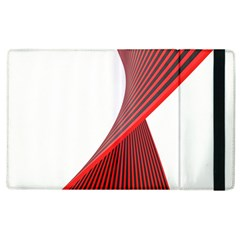 Red Black White Apple Ipad 2 Flip Case