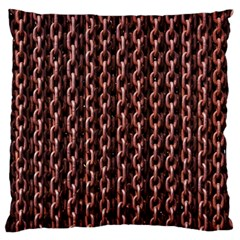 Chain Rusty Links Iron Metal Rust Large Flano Cushion Case (two Sides) by Amaryn4rt