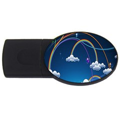 Rainbow Usb Flash Drive Oval (2 Gb)  by Jojostore