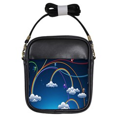 Rainbow Girls Sling Bags by Jojostore