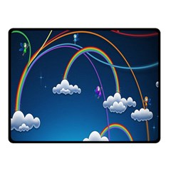 Rainbow Double Sided Fleece Blanket (small)