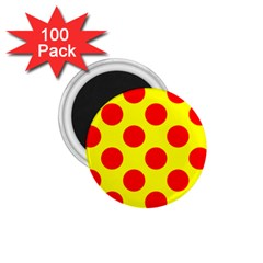 Red Circle Yellow 1 75  Magnets (100 Pack)  by Jojostore