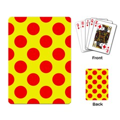 Red Circle Yellow Playing Card by Jojostore
