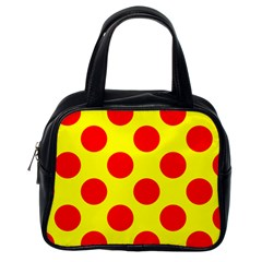 Red Circle Yellow Classic Handbags (one Side) by Jojostore