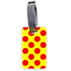 Red Circle Yellow Luggage Tags (one Side)