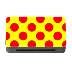 Red Circle Yellow Memory Card Reader With Cf by Jojostore