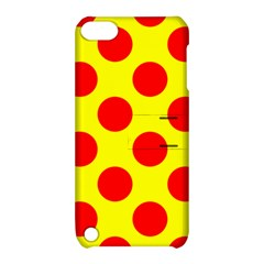 Red Circle Yellow Apple Ipod Touch 5 Hardshell Case With Stand by Jojostore