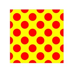 Red Circle Yellow Small Satin Scarf (square) by Jojostore
