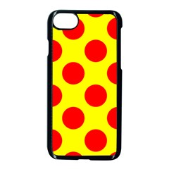 Red Circle Yellow Apple Iphone 7 Seamless Case (black) by Jojostore