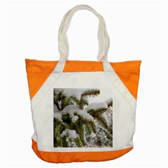 Brad Snow Winter White Green Accent Tote Bag by Amaryn4rt
