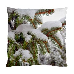 Brad Snow Winter White Green Standard Cushion Case (two Sides) by Amaryn4rt