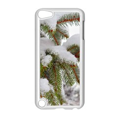 Brad Snow Winter White Green Apple Ipod Touch 5 Case (white) by Amaryn4rt