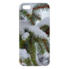 Brad Snow Winter White Green Apple Iphone 5 Premium Hardshell Case