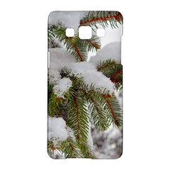 Brad Snow Winter White Green Samsung Galaxy A5 Hardshell Case  by Amaryn4rt