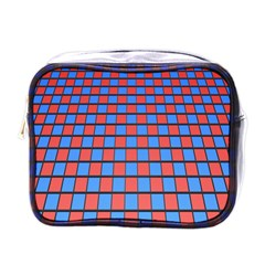 Red Blue Mini Toiletries Bags