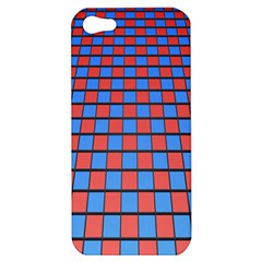 Red Blue Apple Iphone 5 Hardshell Case by Jojostore