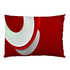 Red White Pillow Case
