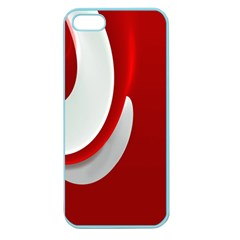 Red White Apple Seamless Iphone 5 Case (color) by Jojostore
