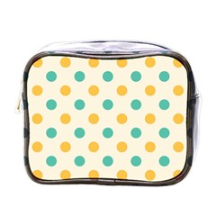 Round Blue Yellow Mini Toiletries Bags