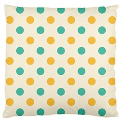 Round Blue Yellow Large Cushion Case (two Sides) by Jojostore