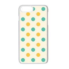 Round Blue Yellow Apple Iphone 7 Plus White Seamless Case by Jojostore
