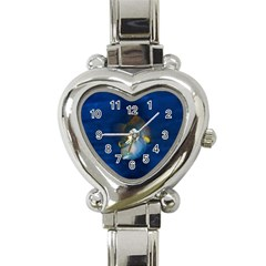 Fish Blue Animal Water Nature Heart Italian Charm Watch by Amaryn4rt
