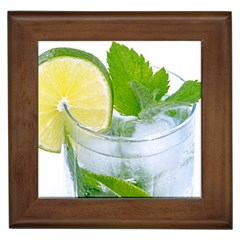 Cold Drink Lime Drink Cocktail Framed Tiles by Amaryn4rt