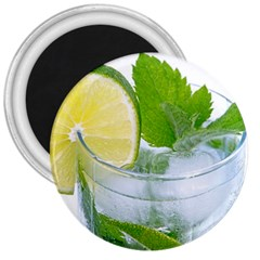 Cold Drink Lime Drink Cocktail 3  Magnets