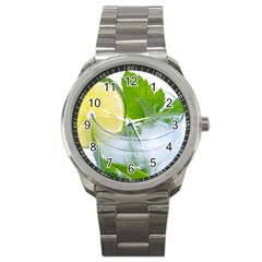 Cold Drink Lime Drink Cocktail Sport Metal Watch by Amaryn4rt