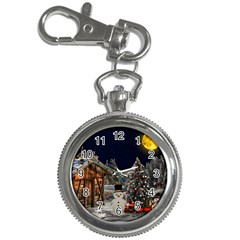 Christmas Landscape Key Chain Watches by Amaryn4rt