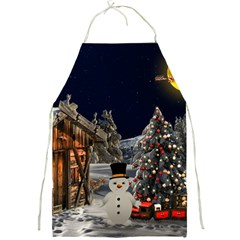 Christmas Landscape Full Print Aprons by Amaryn4rt