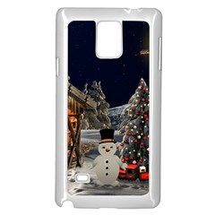Christmas Landscape Samsung Galaxy Note 4 Case (white)