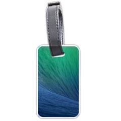 Sea Wave Water Blue Luggage Tags (one Side)  by Jojostore