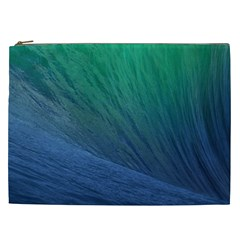 Sea Wave Water Blue Cosmetic Bag (xxl)